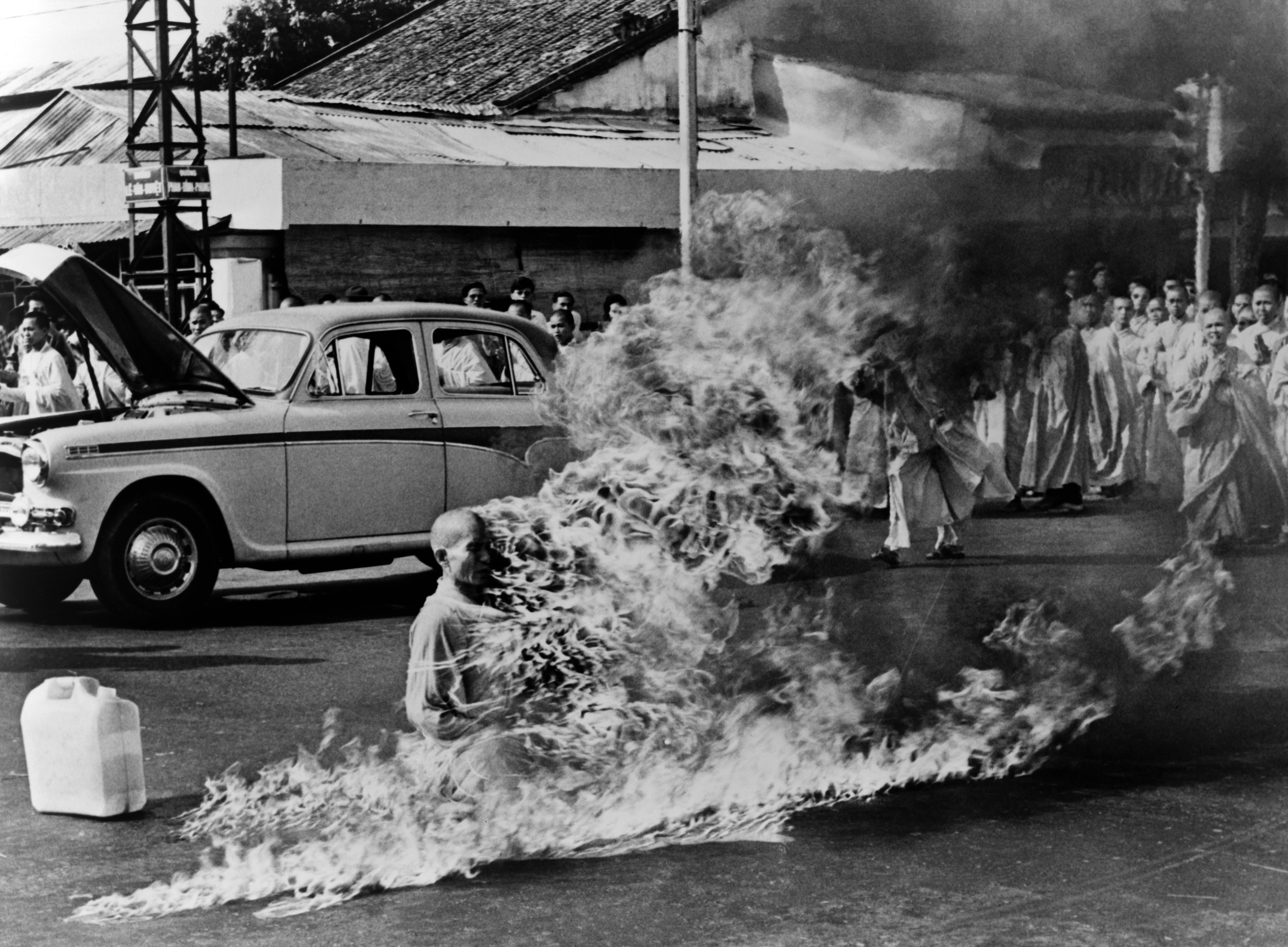 The act of self-immolation by a Buddhist monk Thich Quang Duc